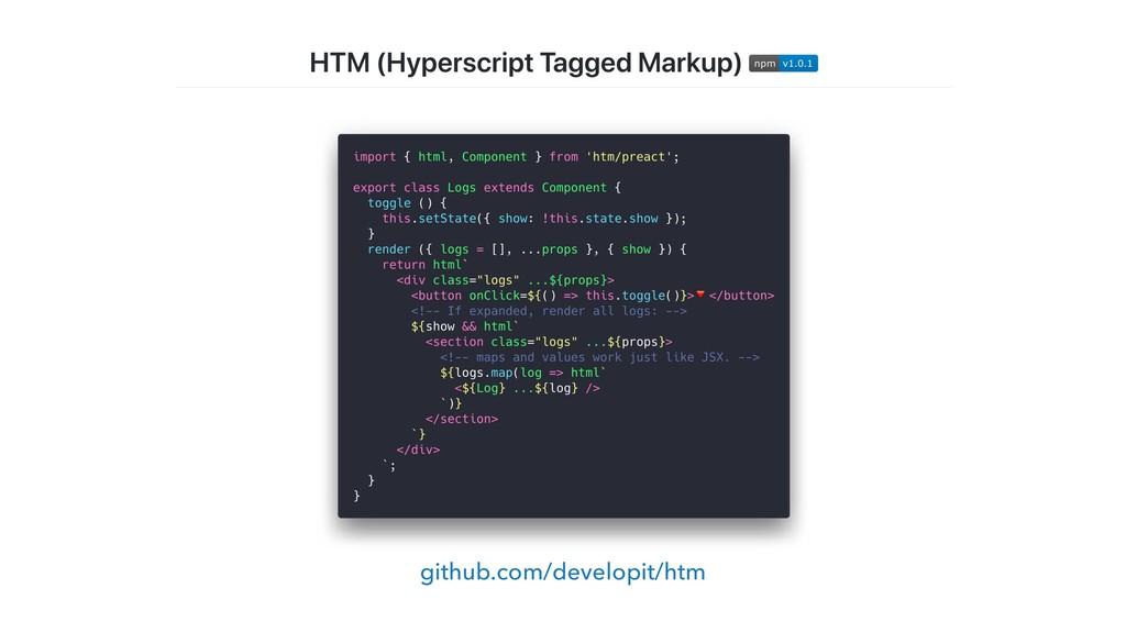 github.com/developit/htm
