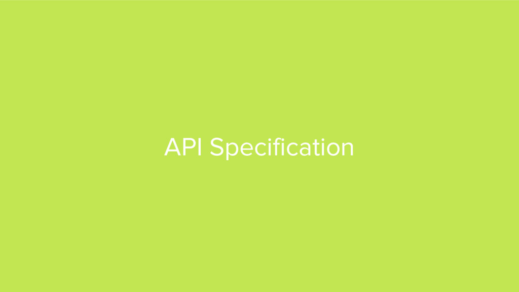 API Specification