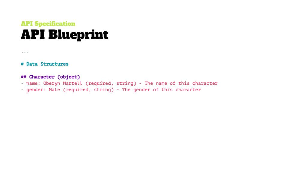 API Specification API Blueprint ... # Data Stru...
