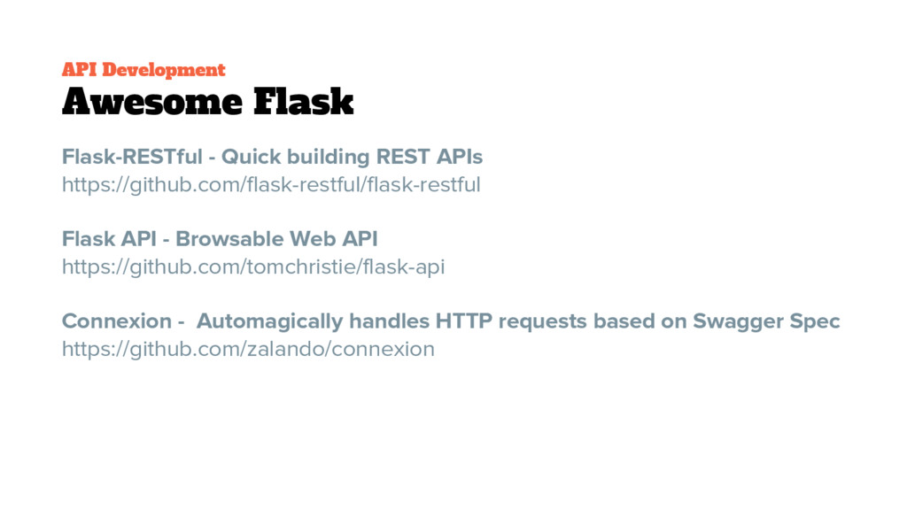 API Development Awesome Flask Flask-RESTful - Q...