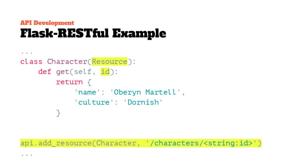 API Development Flask-RESTful Example ... class...