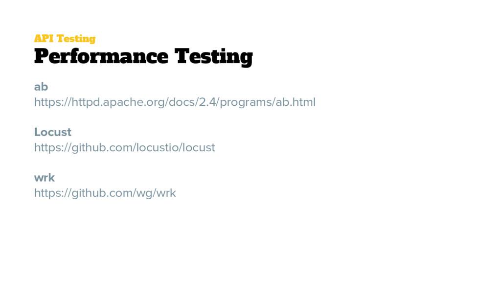 API Testing Performance Testing ab https://http...
