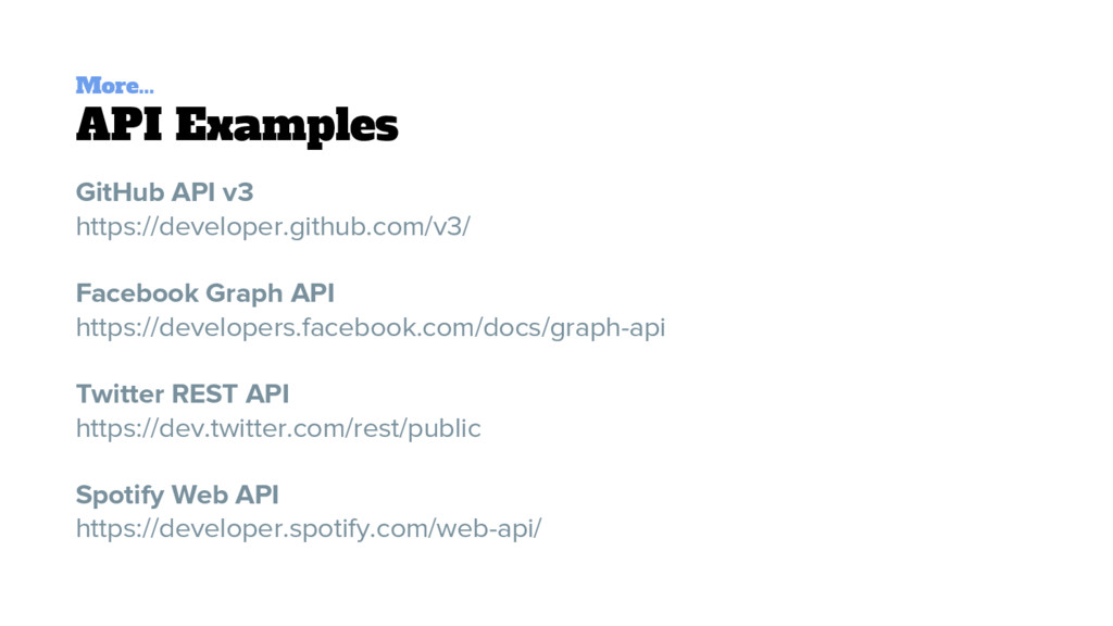 More... API Examples GitHub API v3 https://deve...