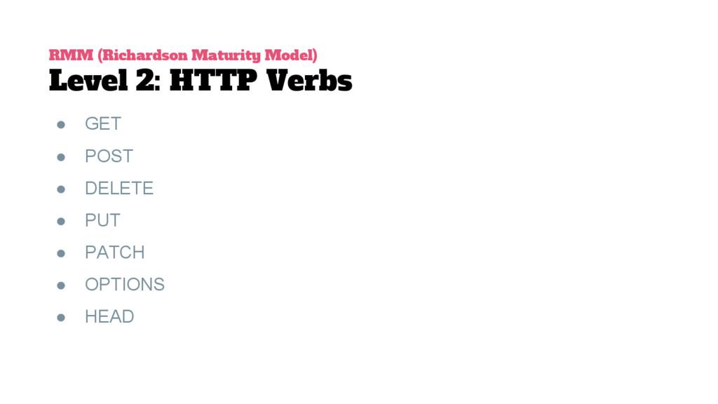 RMM (Richardson Maturity Model) Level 2: HTTP V...