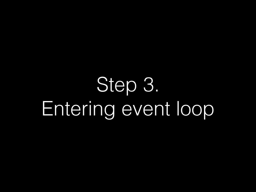 Step 3. Entering event loop