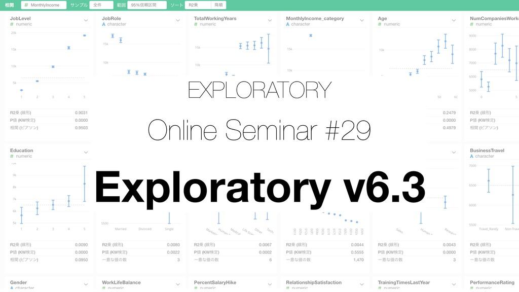 EXPLORATORY Online Seminar #29 Exploratory v6.3