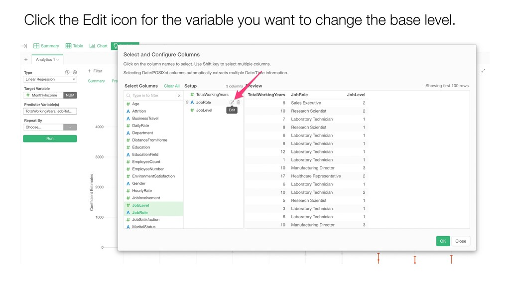 Click the Edit icon for the variable you want t...