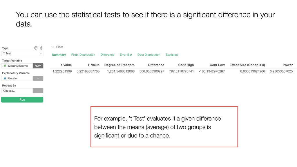You can use the statistical tests to see if the...