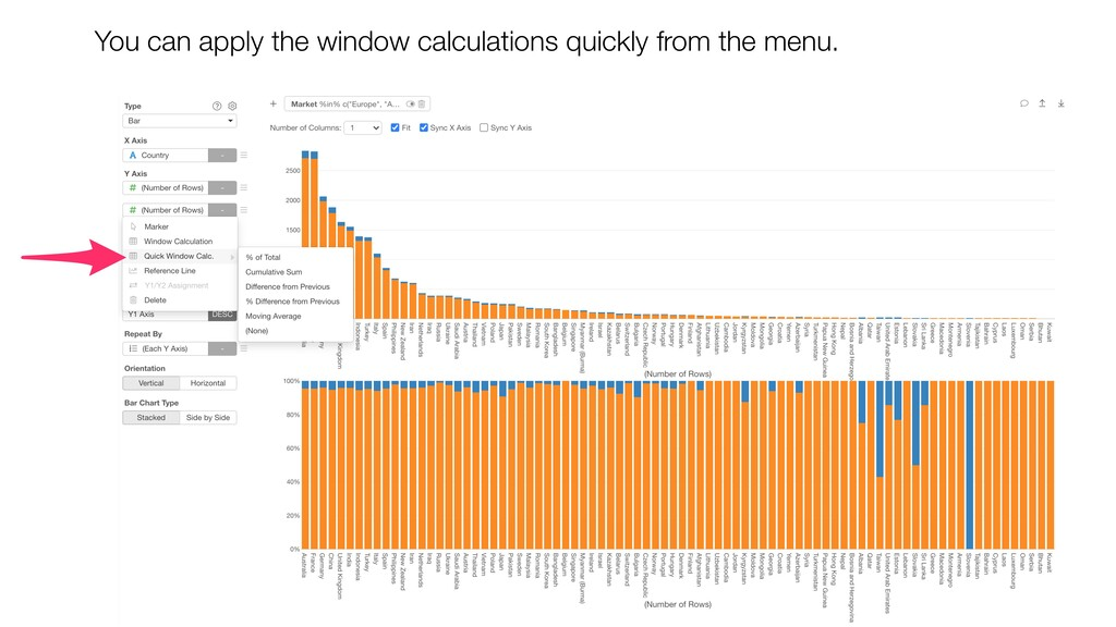 You can apply the window calculations quickly f...