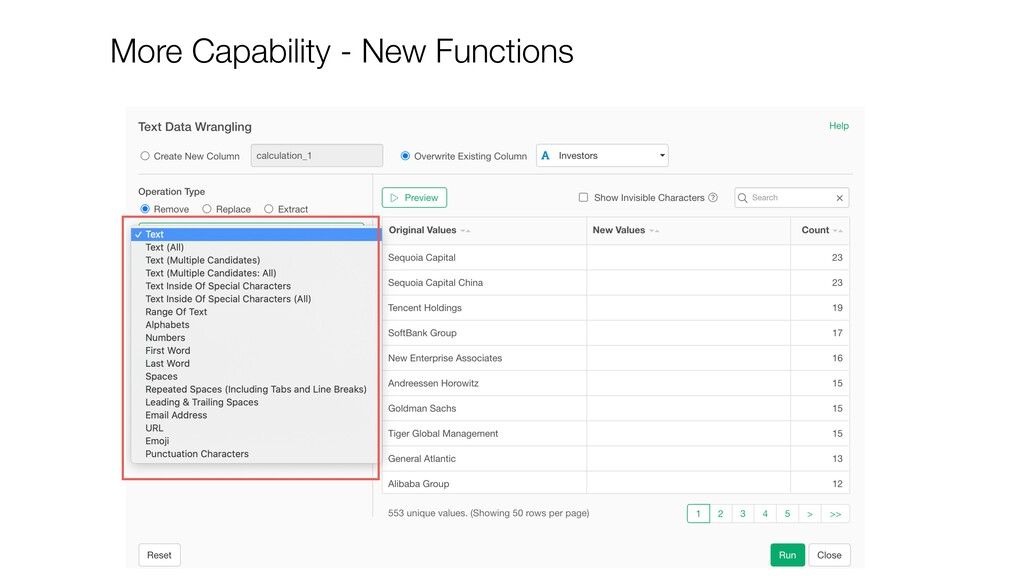 More Capability - New Functions