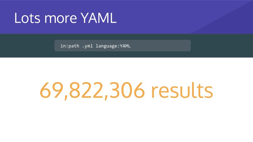 in:path .yml language:YAML 69,822,306 results L...