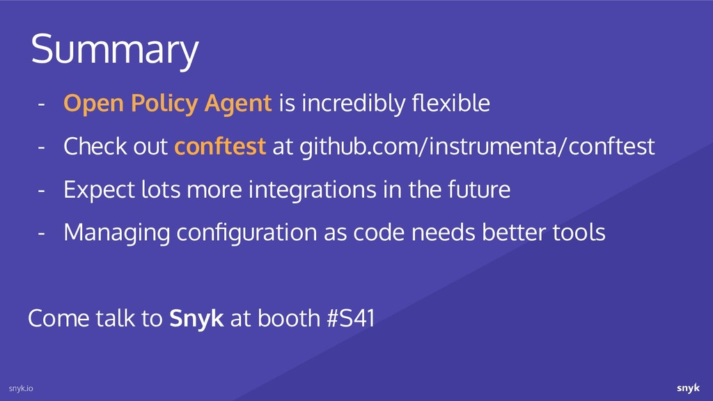 snyk.io - Open Policy Agent is incredibly flexib...