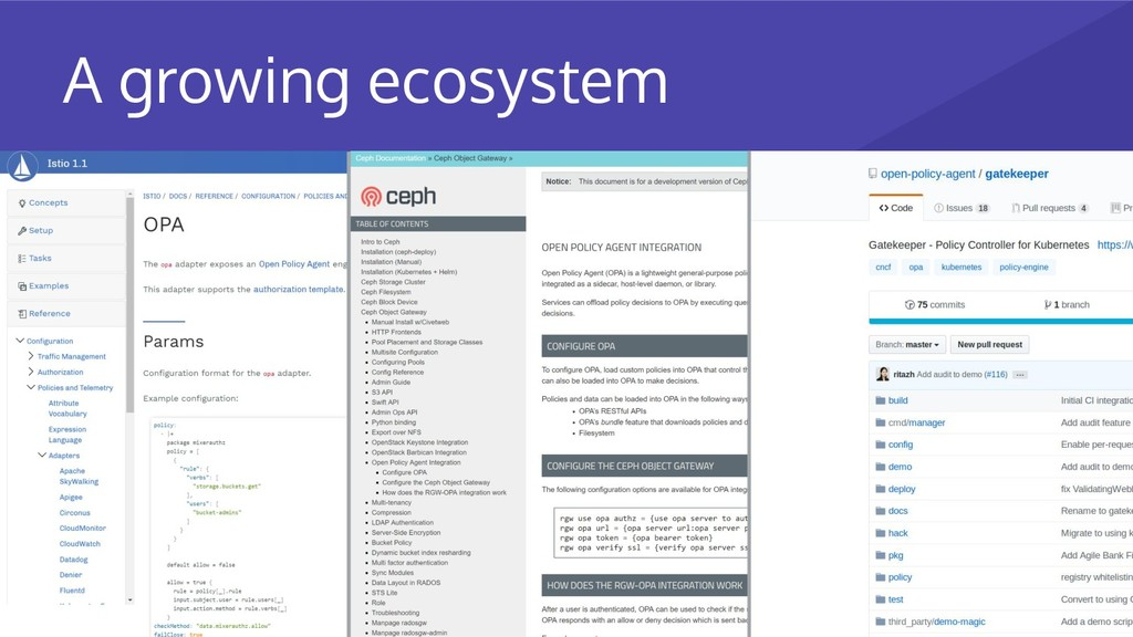 A growing ecosystem