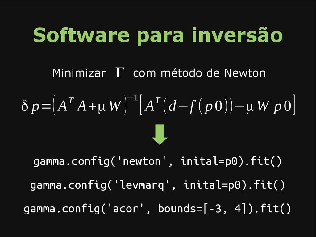 Software para inversão gamma.config('newton', i...