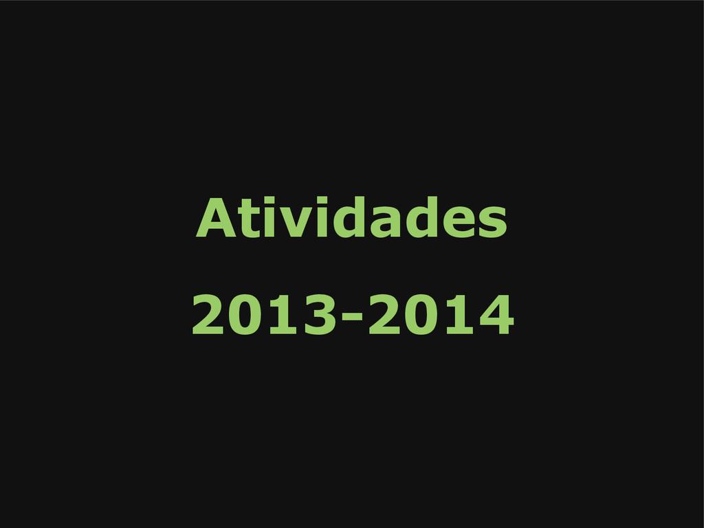 Atividades 2013-2014