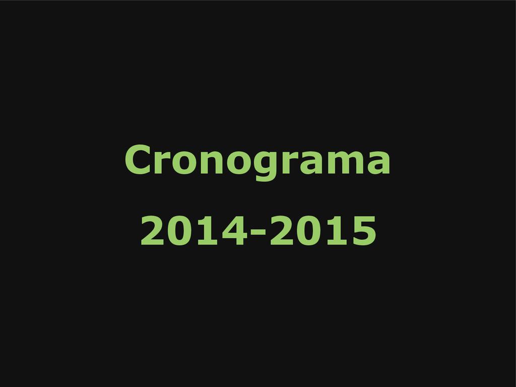 Cronograma 2014-2015