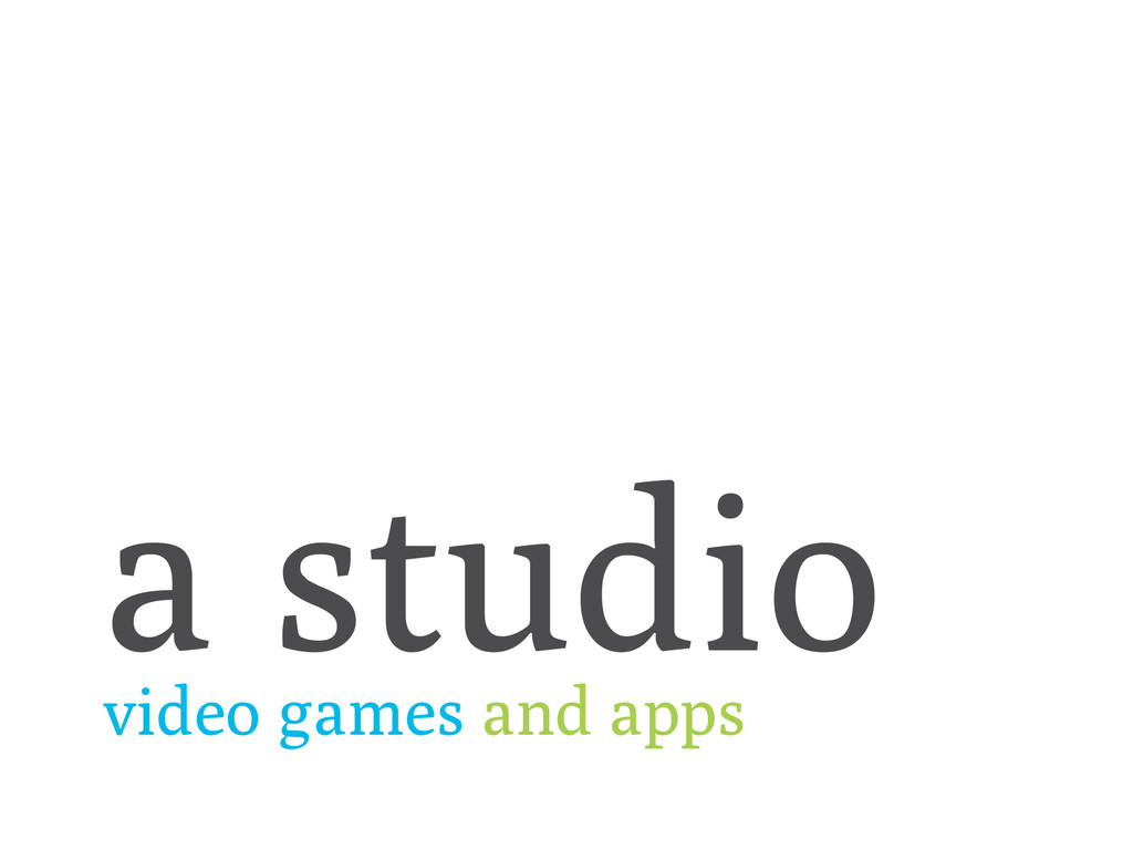 a studio video games and apps