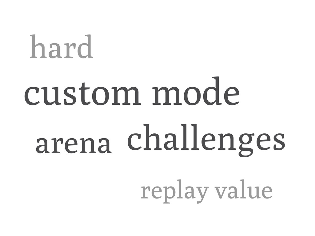 replay value hard custom mode arena challenges