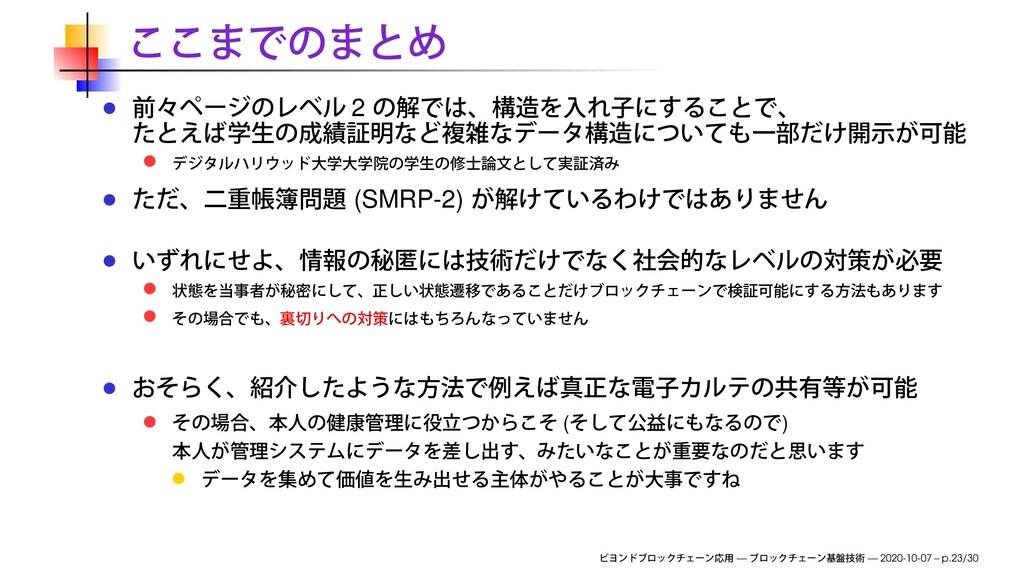 2 (SMRP-2) ( ) — — 2020-10-07 – p.23/30