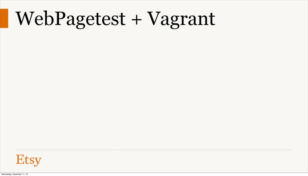 WebPagetest + Vagrant Wednesday, December 11, 13