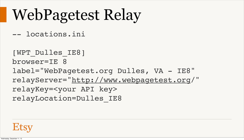 WebPagetest Relay -- locations.ini [WPT_Dulles_...