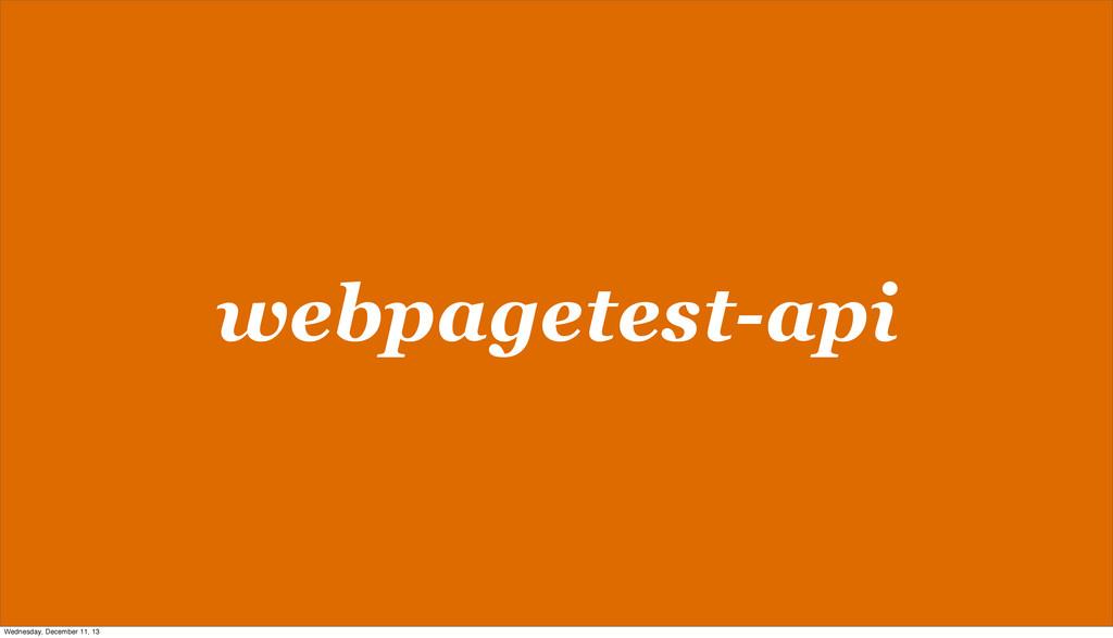 webpagetest-api Wednesday, December 11, 13