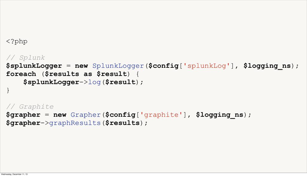 <?php // Splunk $splunkLogger = new SplunkLogge...