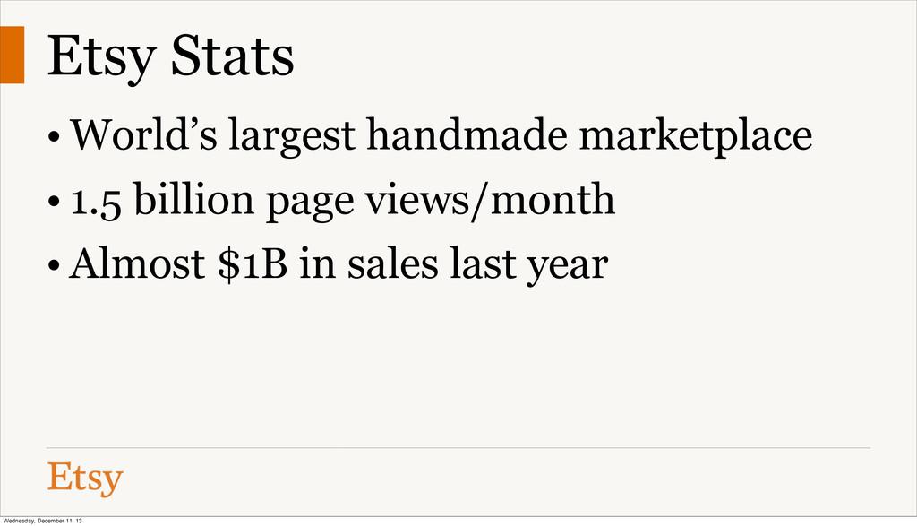 Etsy Stats • World's largest handmade marketpla...