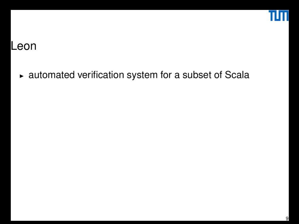 Leon automated verification system for a subset ...