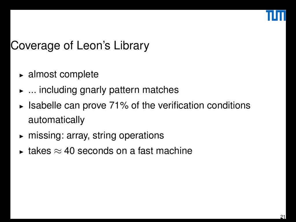 Coverage of Leon's Library almost complete ... ...