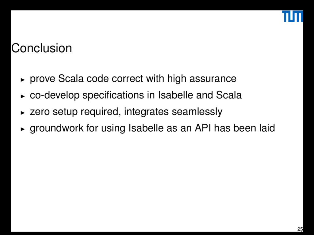Conclusion prove Scala code correct with high a...