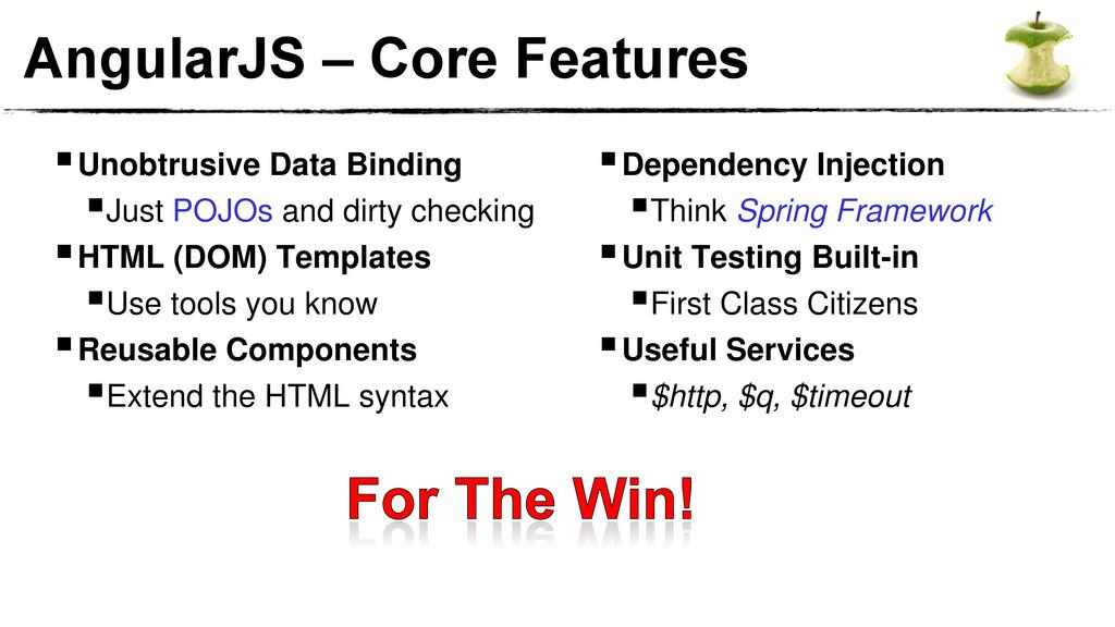 AngularJS – Core Features Unobtrusive Data Bin...