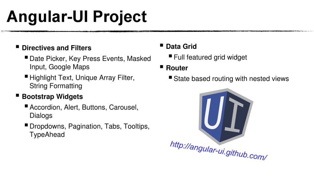 Angular-UI Project  Directives and Filters Da...