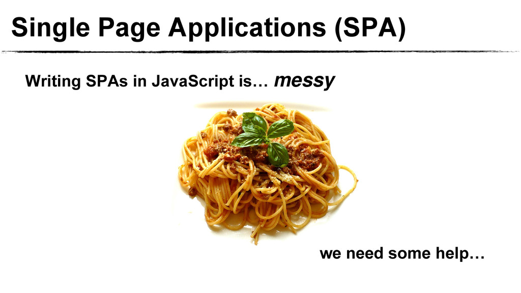 Single Page Applications (SPA) we need some hel...