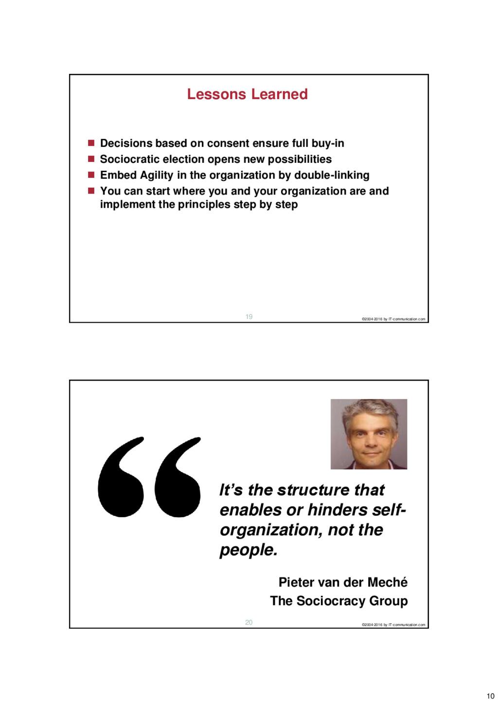 10 ©2004-2016 by IT-communication.com 19 Lesson...