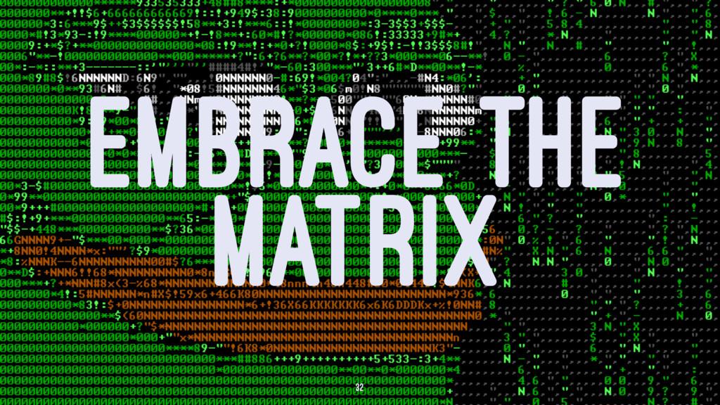 EMBRACE THE MATRIX 32