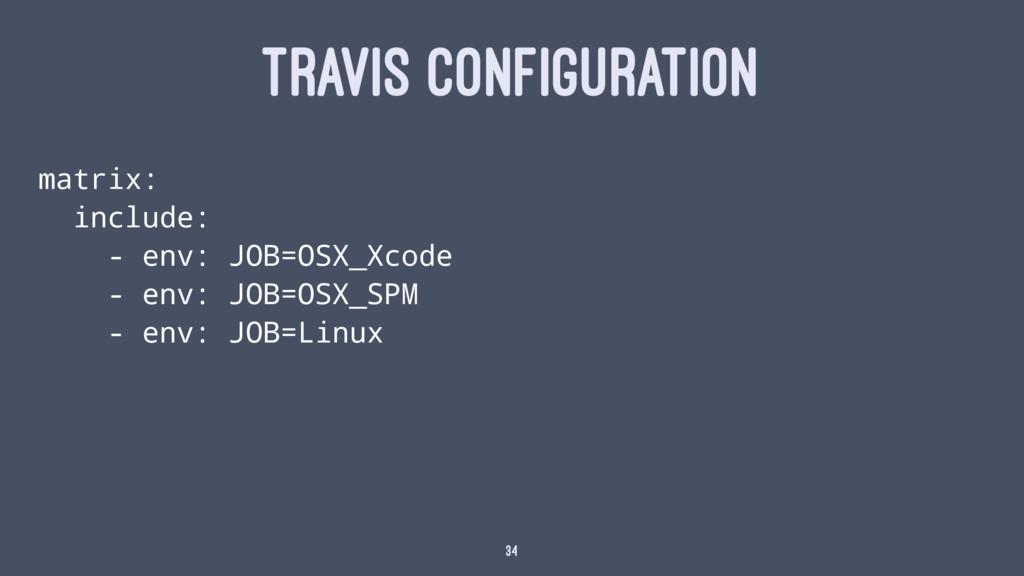 TRAVIS CONFIGURATION matrix: include: - env: JO...