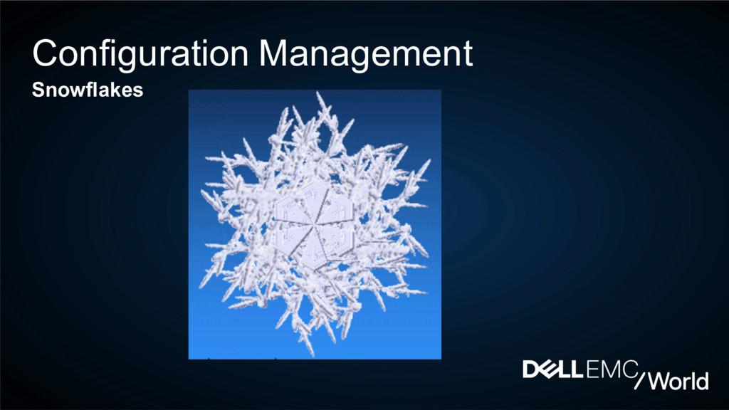 Configuration Management Snowflakes