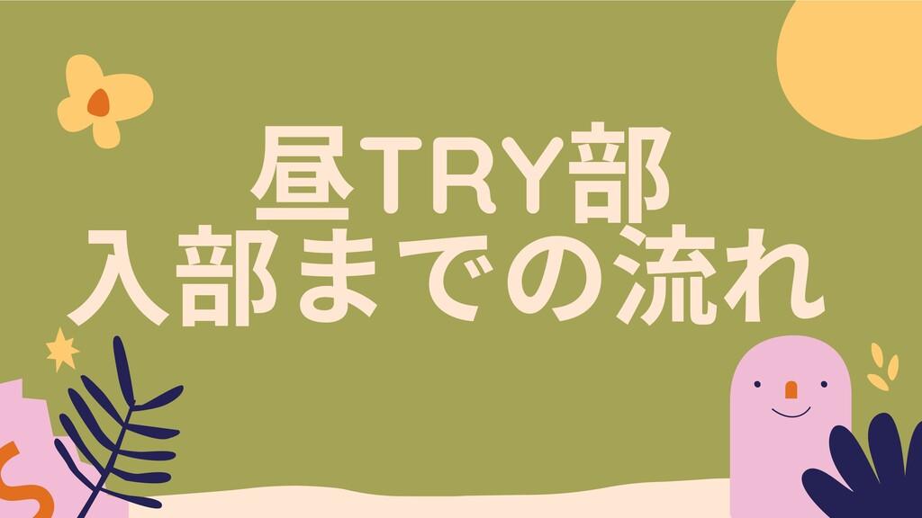 TRY までの流れ