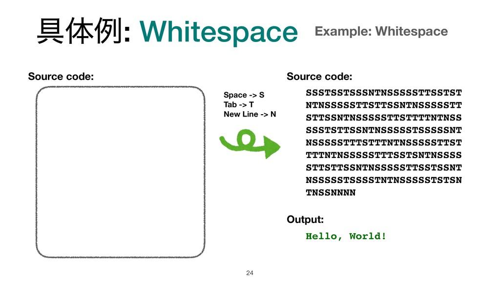 ۩ମྫ: Whitespace !24 SSSTSSTSSSNTNSSSSSTTSSTST N...