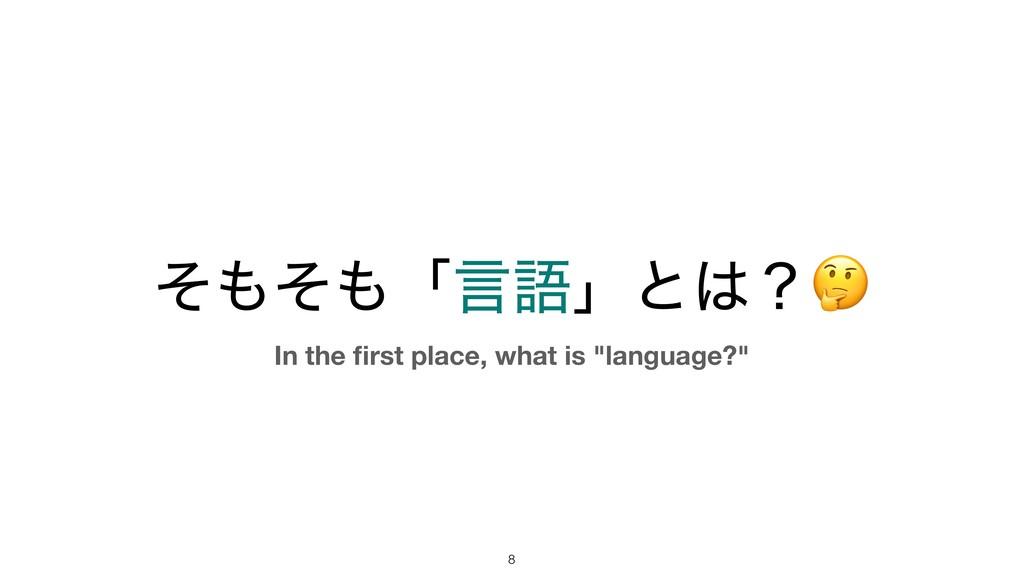 """ͦͦʮݴޠʯͱʁ !8 In the first place, what is """"lang..."""