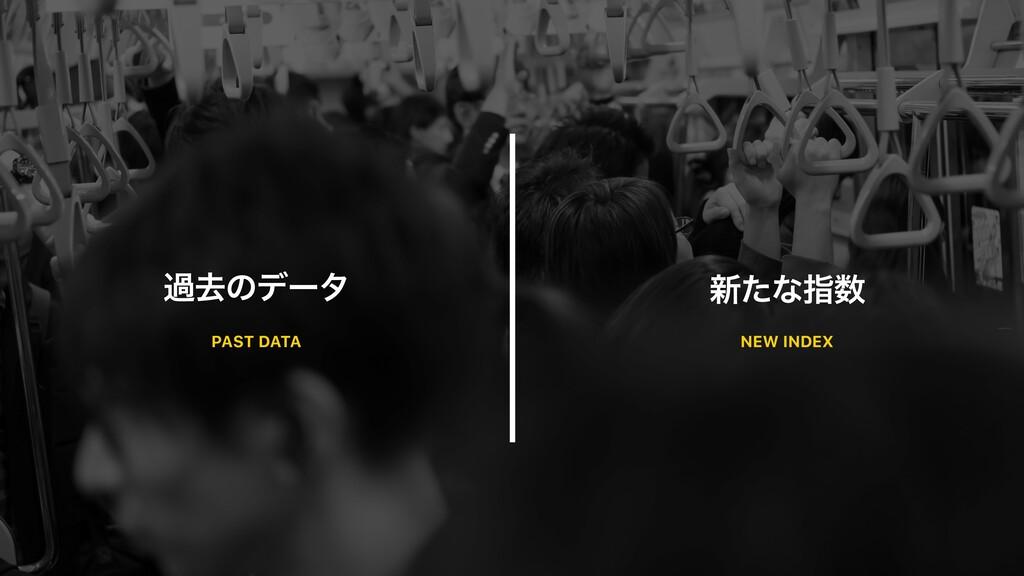 աڈͷσʔλ ৽ͨͳࢦ PAST DATA NEW INDEX