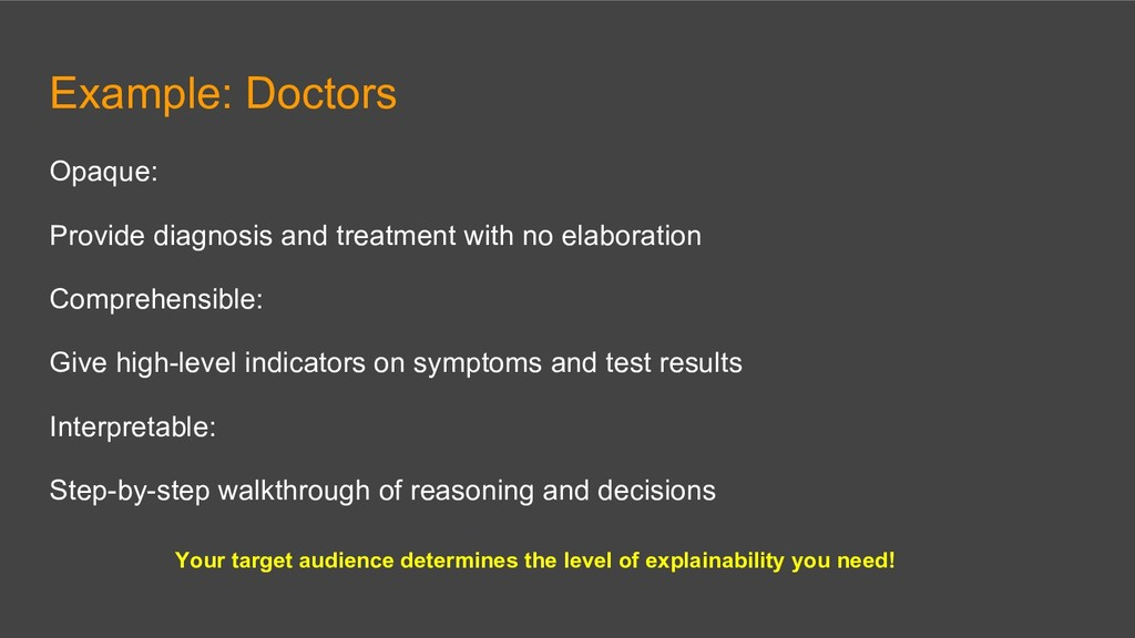 Example: Doctors Opaque: Provide diagnosis and ...