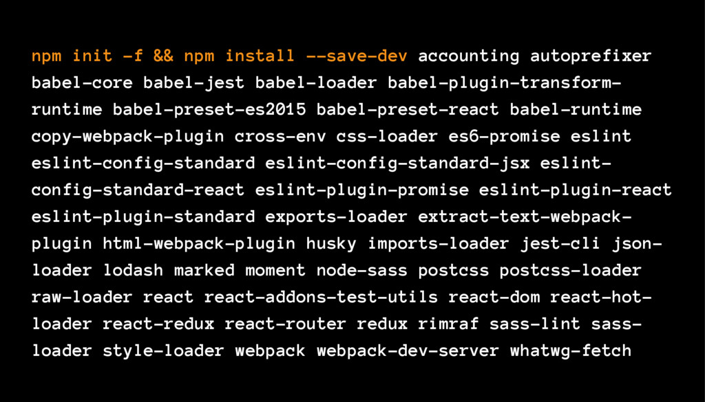 npm init -f && npm install --save-dev accountin...