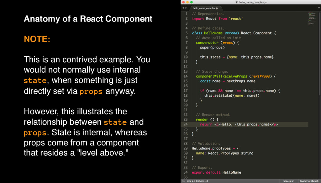 Anatomy of a React Component NOTE: This is an c...