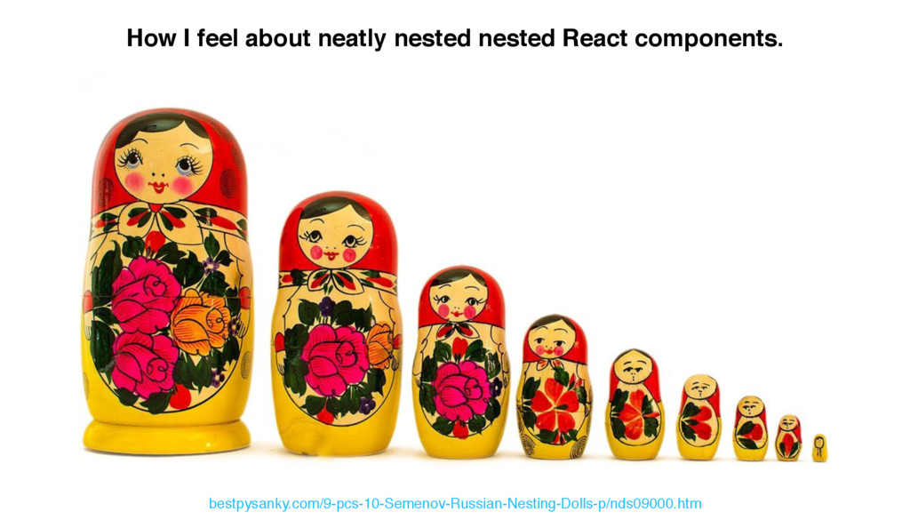How I feel about neatly nested nested React com...