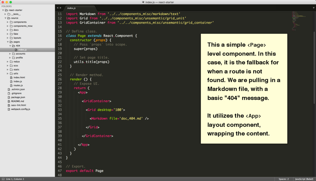 This a simple <Page> level component. In this c...