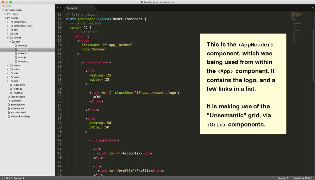 This is the <AppHeader> component, which was be...