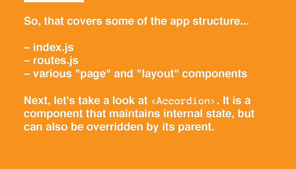 ©2015 T7 So, that covers some of the app struct...