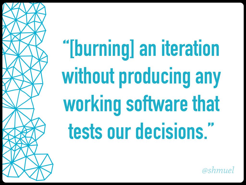 """@shmuel """"[burning] an iteration without produci..."""